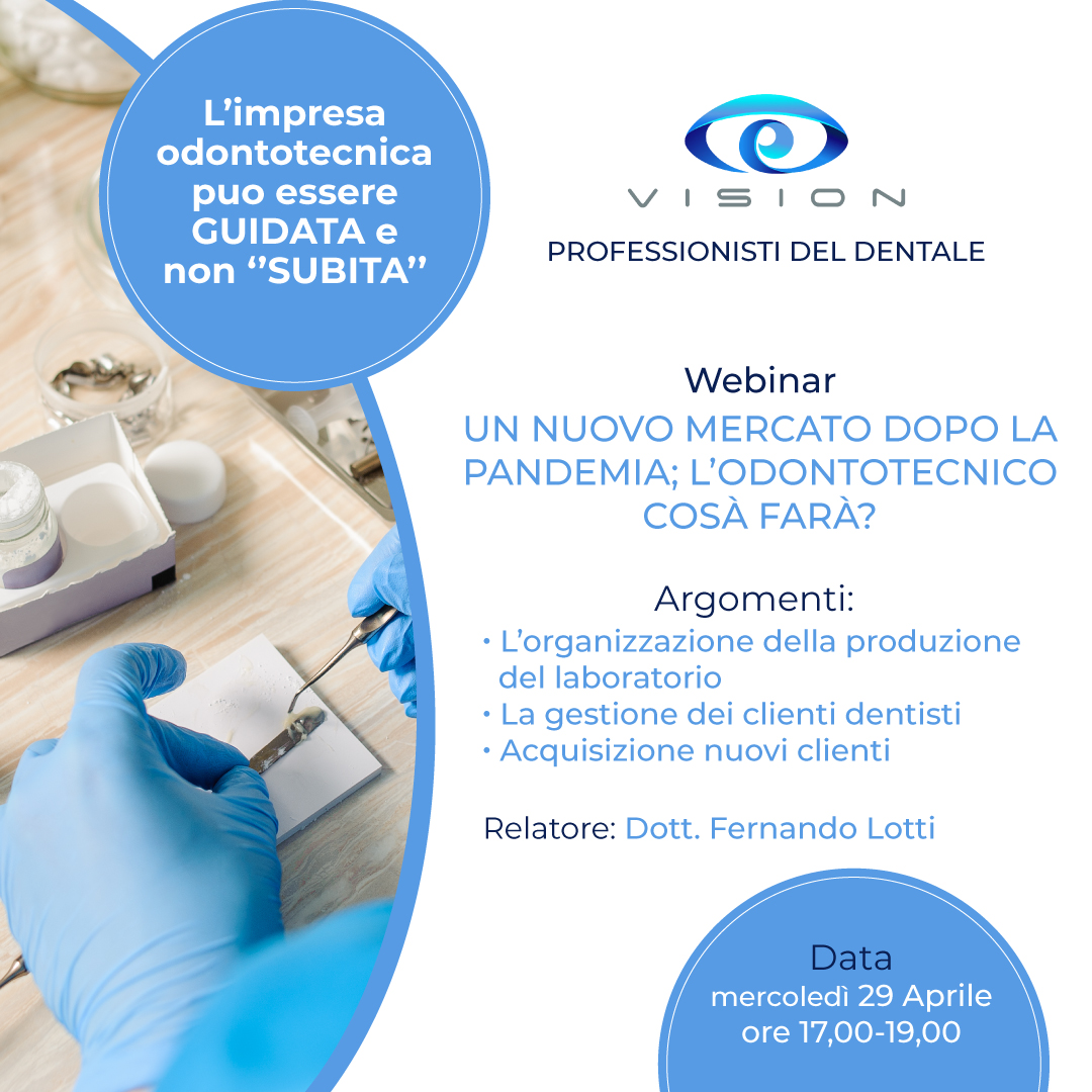 Webinar svolto Vision Professionisti del dentale